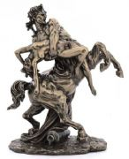 Centaur and Nude Lady Bronze Figurine - The Abduction of Deianeira